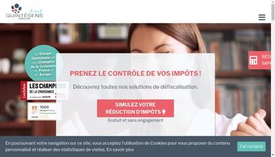 Site internet de Groupe Quintesens Alsace-Lorraine