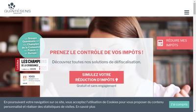 Site internet de Groupe Quintesens Pays de Loire