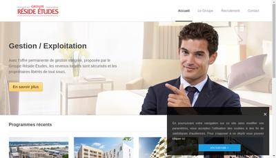 Site internet de Reside Etudes Investissement
