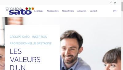 Site internet de Groupe SATO