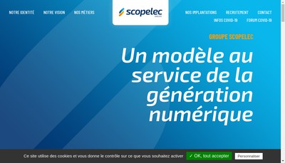 Site internet de Scopelec Telephonie