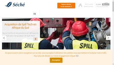 Site internet de Seche Eco Industries