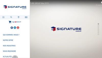 Site internet de Signature Vertical & Mobility Solutions