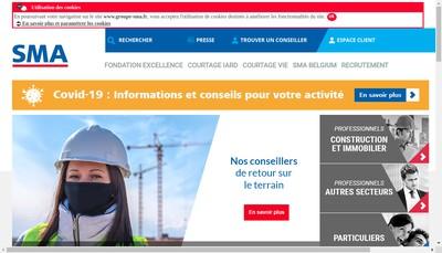 Site internet de Sma Vie Btp