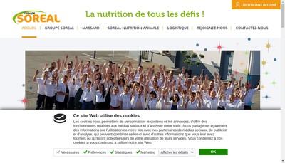 Site internet de Soreal Nutrition Animale