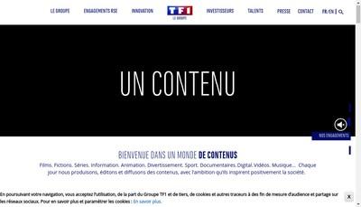 Site internet de Tf1 Production