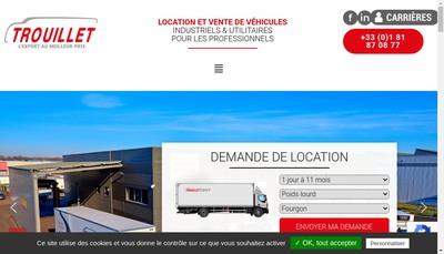 Site internet de Trouillet Services-Ts Trouillet Location Service-Tls