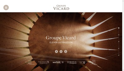 Site internet de Tonnellerie Vicard