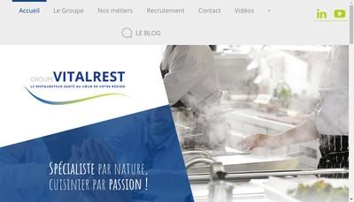 Site internet de Vitalrest-Vitalrest Com-Vitalrest Fr