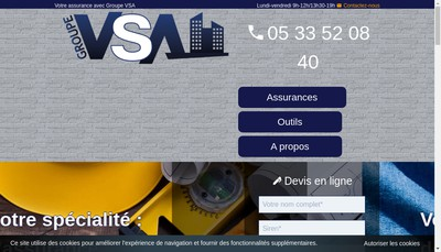 Site internet de Vitalite Sante Assurances - Vsa