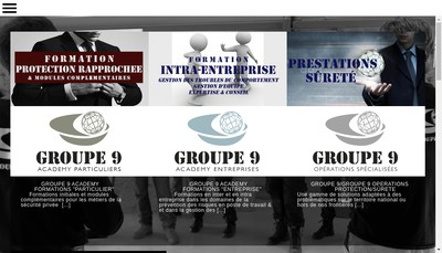 Site internet de Groupe 9 Operations
