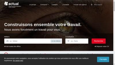 Site internet de SNC Actual la Rochelle