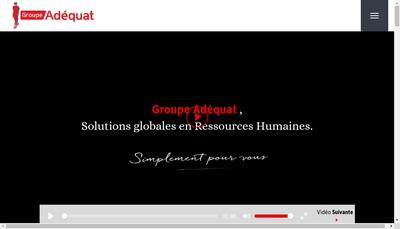 Site internet de Groupe Adequat
