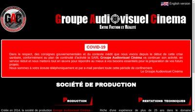 Site internet de Groupe Audiovisuel Cinema