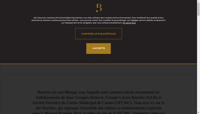 Site internet de Groupe Lucien Barriere