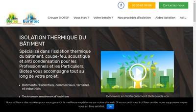 Site internet de Groupe Biotep