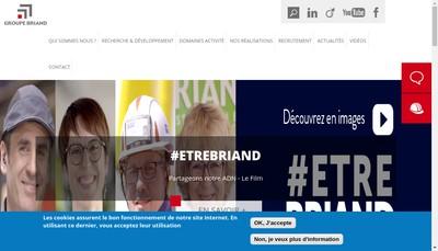 Site internet de Groupe Briand