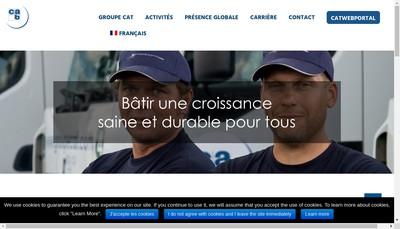Site internet de Groupe Cat