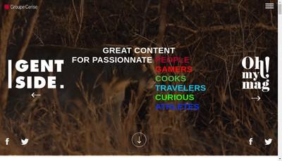 Site internet de Cerise Media
