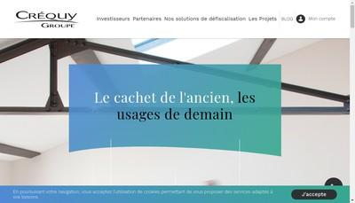 Site internet de Crequy Finance