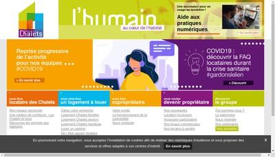 Site internet de SA d'Habitations a Loyer Modere des Chalets