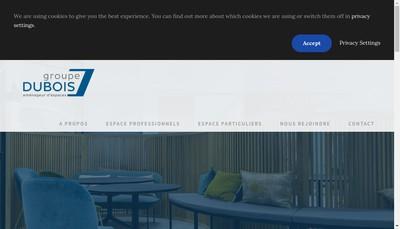 Site internet de Dubois Menuiserie