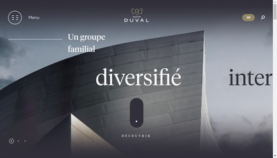 Site internet de Groupe Duval