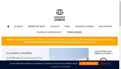 Site internet de GIE Gambetta Immobilier