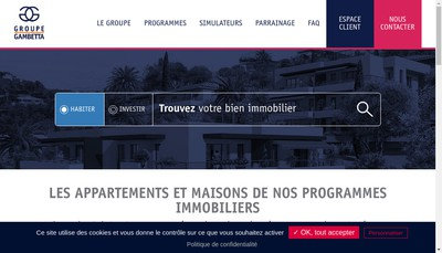 Site internet de Immobiliere Rives de Loire