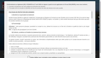 Site internet de Groupe Gesim
