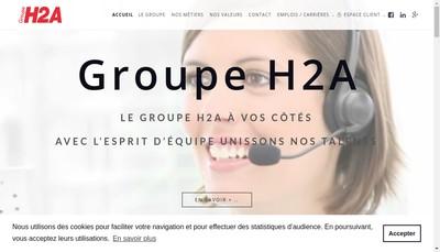 Site internet de H2A Telemarketing