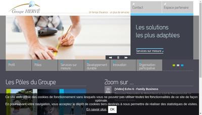 Site internet de Groupe Herve