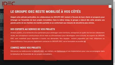 Site internet de Groupe Idec