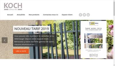 Site internet de Koch SAS