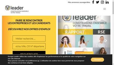 Site internet de Leader Interim 44