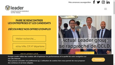 Site internet de Leader Interim 2878