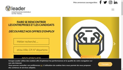 Site internet de Leader Interim 4531