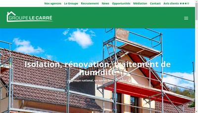 Site internet de Groupe le Carre