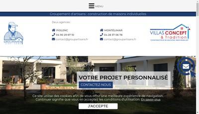 Site internet de Groupement d'Artisans