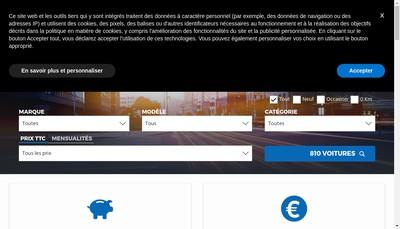 Site internet de Financiere Nation