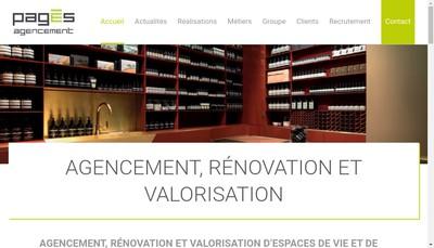 Site internet de Pages Agencement