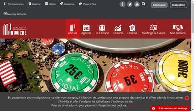 Site internet de Groupe Partouche