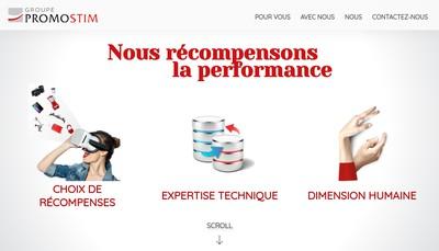 Site internet de Groupe Promostim
