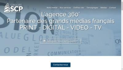 Site internet de Groupe SCP
