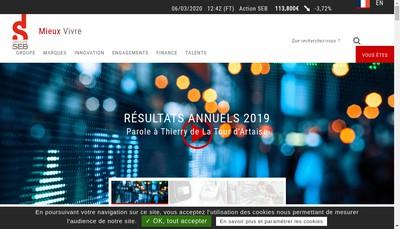 Site internet de Groupe Seb France