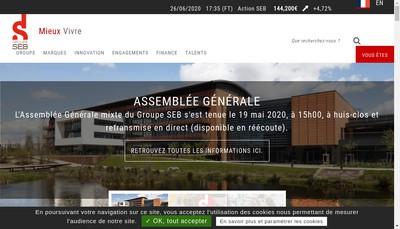 Site internet de Groupe Seb Export