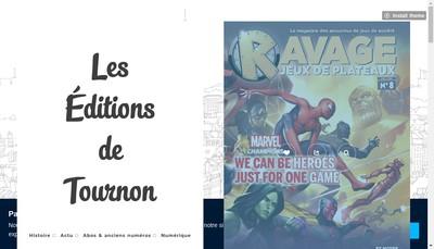 Site internet de Editions de Tournon