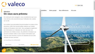 Site internet de Valeco Oetm