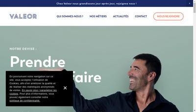 Site internet de Groupe Valeor