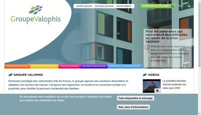 Site internet de Valophis Habitat Office Public de l'Habitat du Val de Marne